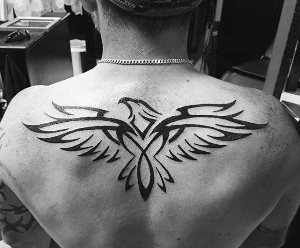 50 Tribal Bird Tattoo Designs For Men Cool Ink Ideas Tribal Bird Tattoos Back Tattoos For Guys Tribal Back Tattoos