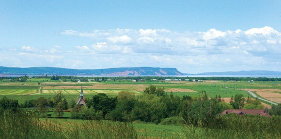 Grand-Pré National Historic Site of Canada    A view the Acadians would have seen daily when farming.