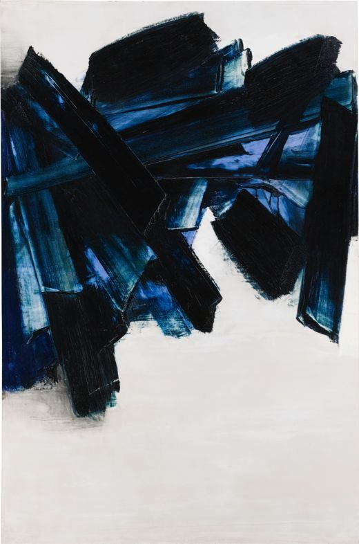 SOULAGES Pierre  Peinture 21 novembre 1959 huile:toile 195x130 cm