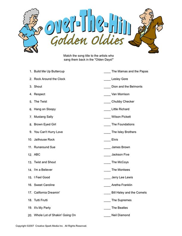 Over-The-Hill Golden Oldies