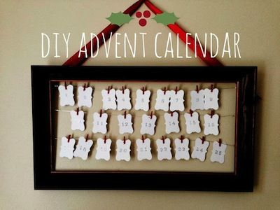 Budget Frame Advent Countdown with paper tags