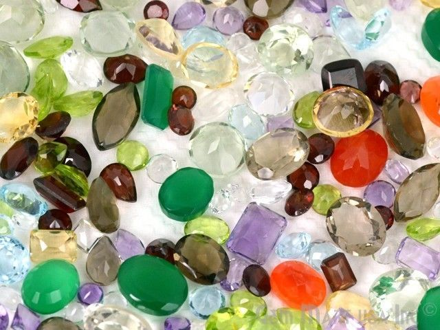 100+ cts Mix Loose Faceted Natural Gemstone Mixed Gems Wholesale Loose Gems Lot #GemMartUSA