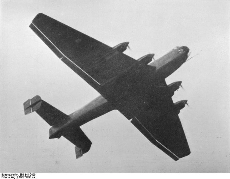 Ju 89 V1 prototype heavy bomber in flight, mid-1937