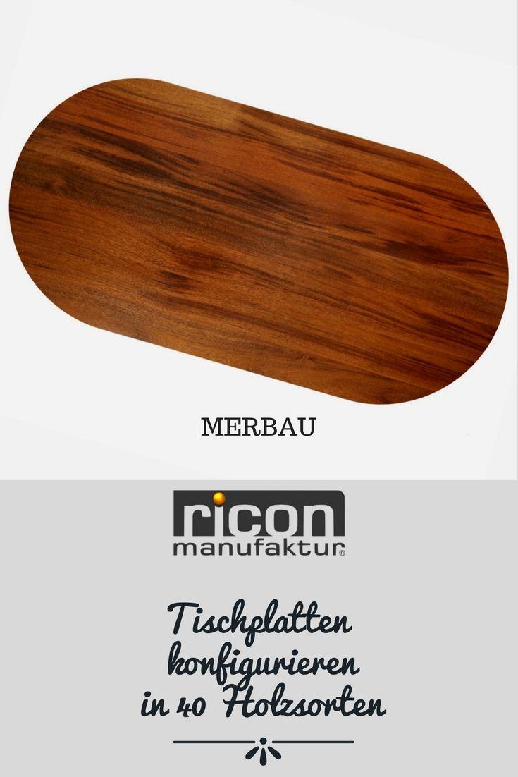 Tischplatten ganz einfach konfigurieren - ganze Bohlen aus Massivholz in 40 Holzsorten. Gib dein Maß ein und bestelle einfach online. RICON