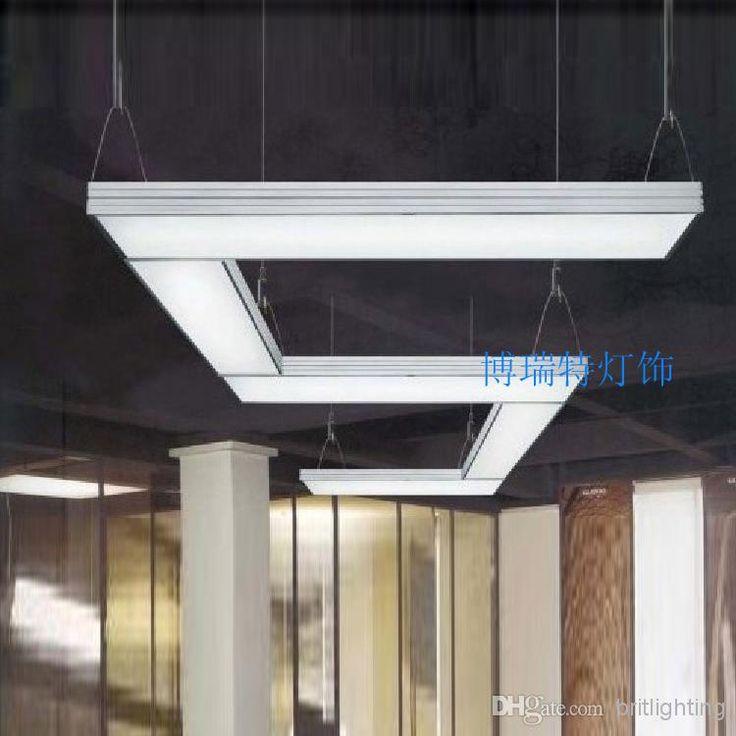 Meeting room lighting linear suspended led luminaire for Luminaire suspension moderne