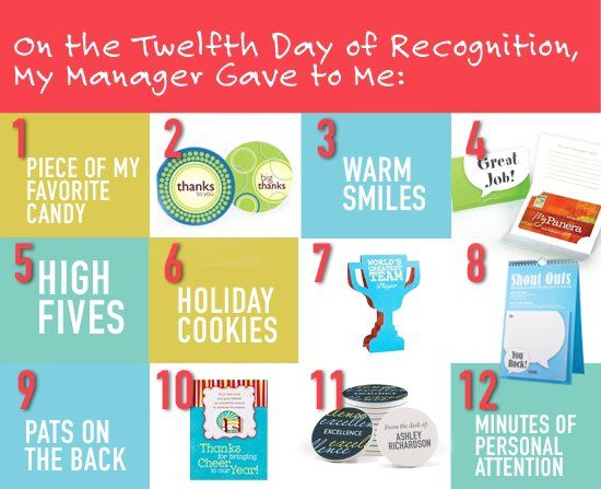 12 days of recognition ideas for your employees kl