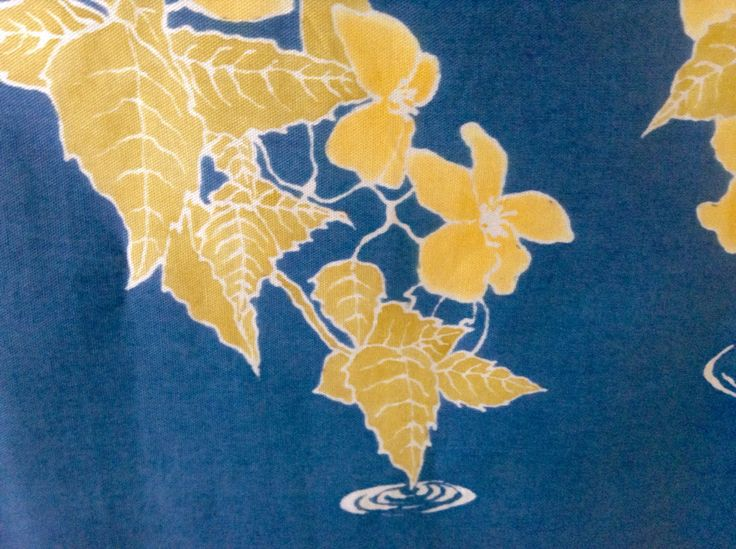 Yamabuki, detalle. Pieza realizada en Yuzen.
