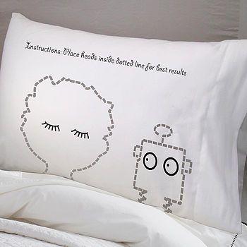 sleepyhead pillowcase robot by twisted twee homewares | notonthehighstreet.com