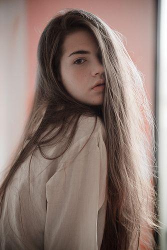 Brown hair girl beautiful