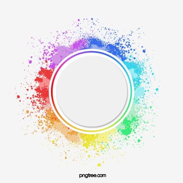 Spatter Circular Watercolor Watercolor Brushes Annular Stereoscopic Border Brush Frame Splashing Wa Watercolor Splash Watercolor Border Paint Splash Background