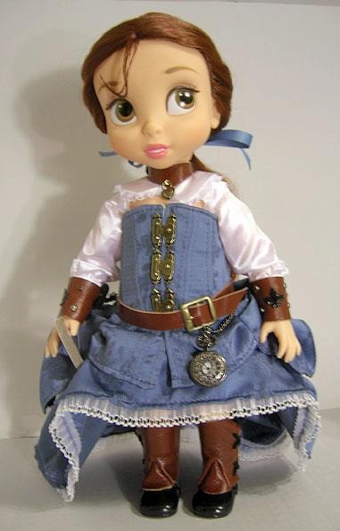Steampunk Belle Doll - a re-dressed Disney Animators' Collection Doll by Pendragon Costumes