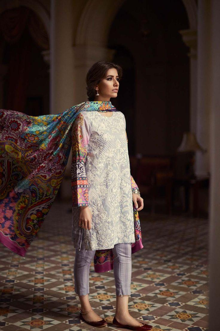 "highfashionpakistan: "" Zara Shahjahan, Noor Bano, Lawn Spring 2016 """