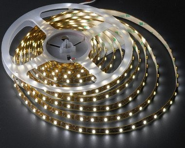 5 Meter Reel Warm White 3100k Flexible LED Ribbon 300 Leds 16 Ft by LEDwholesalers  2026ww-31k: LED RIBBON (A.K.A FLEXSTRIP LIGHTING) is a low voltage (12 volt) Super Bright LED lighting in a flexible thin PCB strip. This LED ribbon uses super flexible PCB board as base and adopts Chip RGB LED as its luminous body. Designed for the lighting professional, this lighting can be used for architectural lighting, sign letter light, concealed lighting perimeter lighting and many other applications.