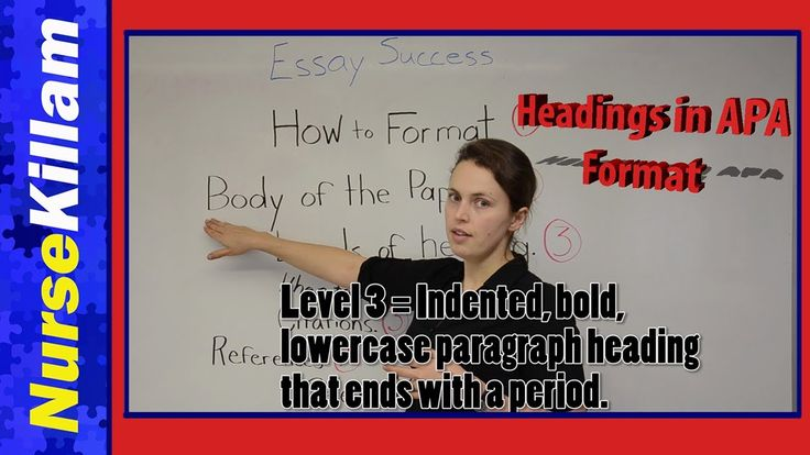 Levels of heading in APA format 6th edition