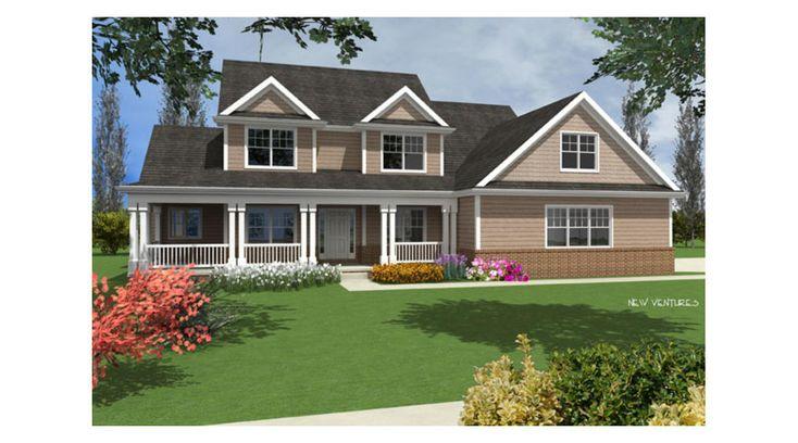 NV38004 - 1.5 Story   New Ventures - Custom Home Designs ...