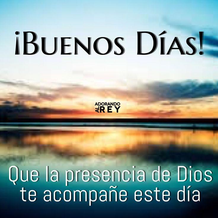 Que la presencia del Señor te acompañe este día.
