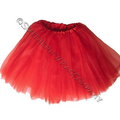 RED TUTU ADULT BALLET TUTUS WAIST 18-36 Fits 10yrs and up FREE SAME DAY SHIP