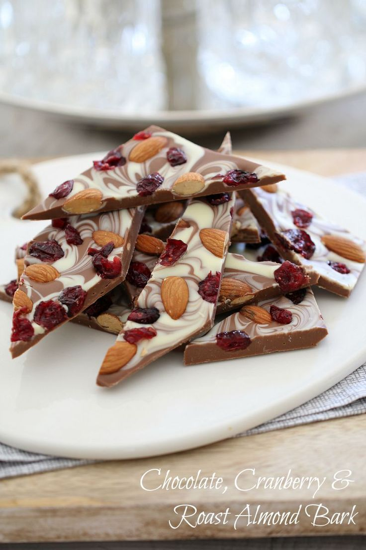 This 3 ingredient Chocolate, Cranberry & Roast Almond Bark takes less than 5 minutes to prepare and makes the perfect gift for family or friends!