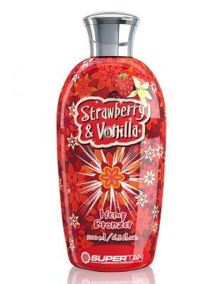 Strawberry & Vanilla Бронзатор с экстрактом из конопли 200 мл Supertan American Product от Supertan American Product