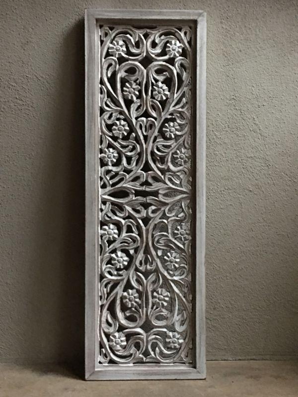Houten Panelen Wanddecoratie.Stoer Landelijk Oud Houten Wandpaneel Wit Whiteoff White Off