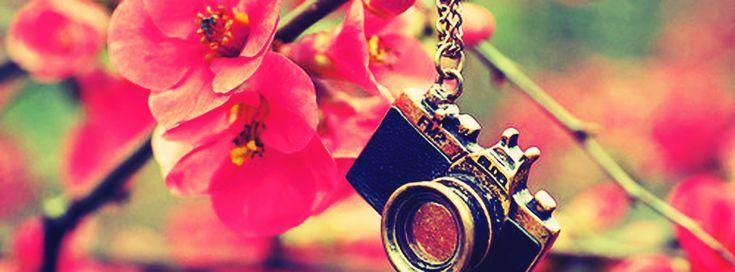 appareil photo couverture fleuri