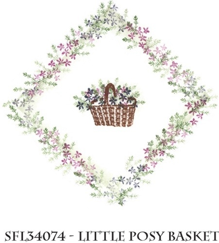 Stempelset 'Little Posy Basket'  Design: Rubber Stamp Tapestry