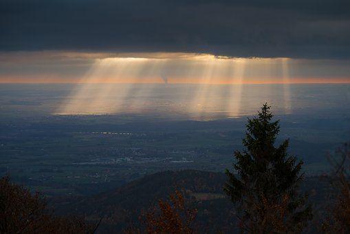Západ Slunce, Světlo, Abendstimmung