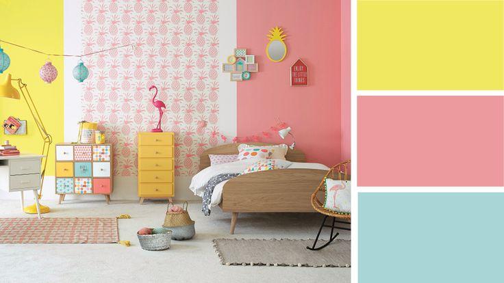 Quelles associations de couleurs pour une chambre d'ado fille ? | Chambre ado, Chambre bébé ...