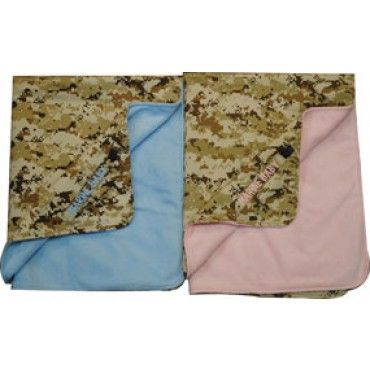 Marine Baby Digital Desert Blue or Pink Blanket | Infant and Toddler Clothing | Kids | Sgt Grit - Marine Corps Store
