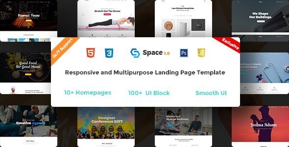 Space - Multipurpose HTML5 Landing Page http://themeforu.com #webdesign #website #design #responsive #besttemplates #template #SiteTemplates #Creative