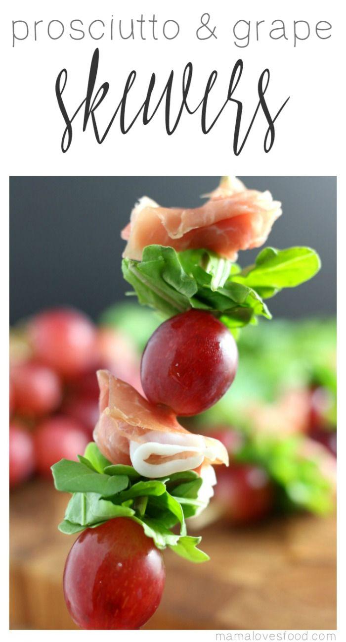 Grape and Prosciutto Skewers Appetizer Recipe AD