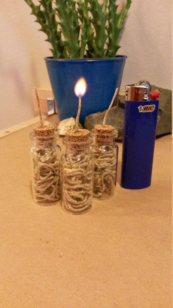 Hemp Wick Dispenser Lighter Vial 25 Feet With by RogueWickOrganics