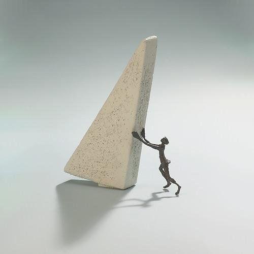 Berge versetzen – Kött-Gärtner Luise – Bronze Skulptur