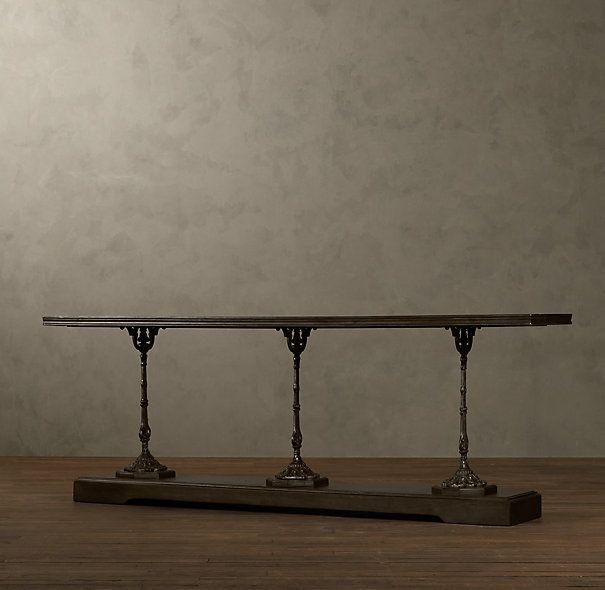 Restoration Hardware Console Table: Oh La La...19th C French Zinc And Cast Iron Console Table