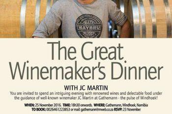 The Great Winemaker's Dinner - http://ilovehermanus.co.za/event/the-great-winemakers-dinner/