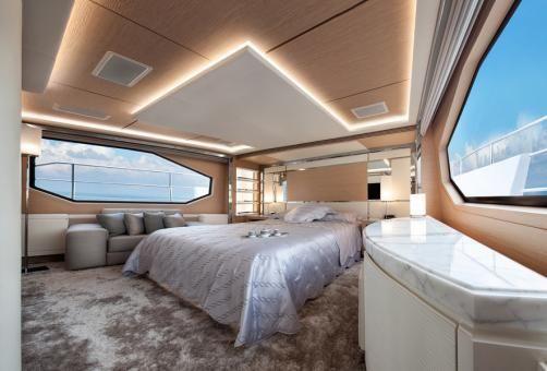 Benetti Dlefino Luxury Yacht, featuring Pure White Seamless Brick Design Freshwater Mother of Pearl. by Shellshock Designs #interior #design #yacht: