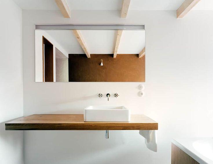 Haus Stein: minimalistische Badezimmer von JAN RÖSLER ARCHITEKTEN