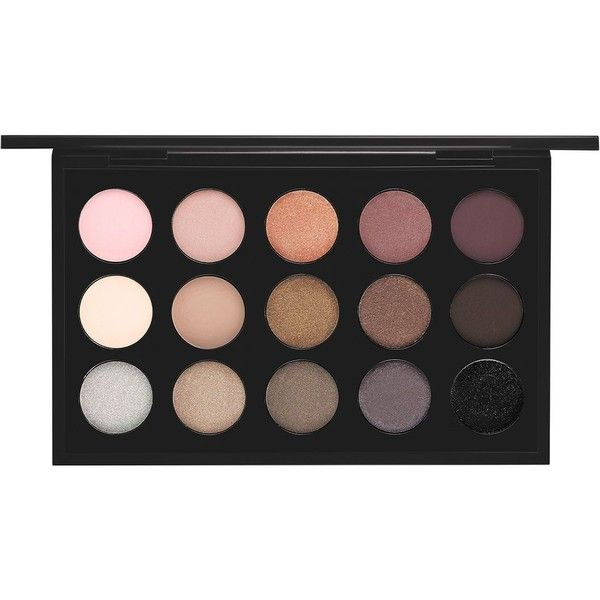 MAC Eyes x 15 Palette, Cool ($85) ❤ liked on Polyvore featuring beauty products, makeup, eye makeup, eyeshadow, beauty, cosmetics, fillers, cool neutral, mac cosmetics eyeshadow and mac cosmetics