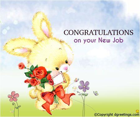 congratulations on new job cards