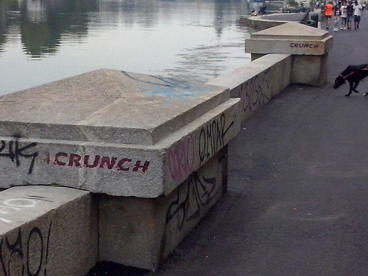 Fiume Po graffitti