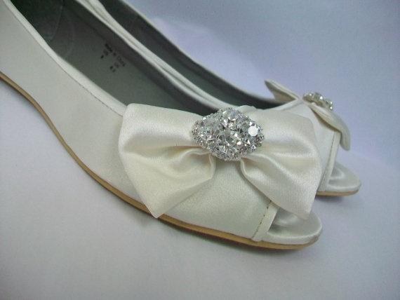 Wedding Shoes  Flats by Parisxox on Etsy, $99.00
