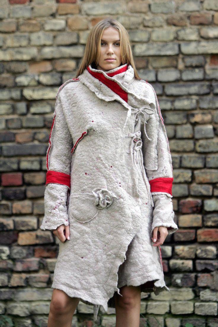 Women Felt Jacket Coat / Coat for Women / Wool Linen Clothing / Reversible Coat / Womens Dressy Jacket / Wool Clothing / Unique Design by Aistefashion on Etsy https://www.etsy.com/listing/493757504/women-felt-jacket-coat-coat-for-women