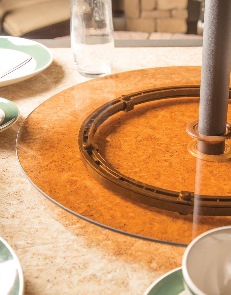 ... With The Backyard Creations™ Lazy Susan. A Fitting Addition To Your  Table, This Tempered Tea Glass Dish Adds Function And Fashion To Any Outdoor  Spread.