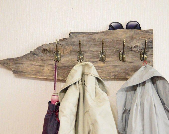 Wood Coat Rack Entryway Organizer Mail Storage Key Hook Floating Shelf Wall Mounted Wood Organizer Entryway Hooks Rustic Coat Rack Rustic Coat Rack Boho Bedroom Decor Driftwood Decor