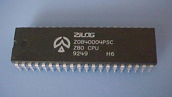 """Zilog Z80 - eins der beiden populärsten """"Herzstücke"""" der 80er Jahre PCs: Zentrale Prozessor Einheit / Central Processing Unit : the heart of many Computers of the 80ies"""