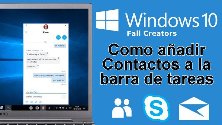 Conoce como añadir contactos a la barra de tareas de Windows 10 ✅ para poder chatear, enviar archivos o realizar videollamadas con esos contactos sin abrir los programas como Skype. #Skype #Windows10FallCreators #Microsoft downloadsource.es