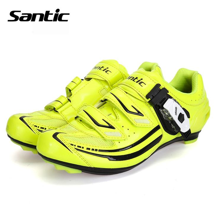 Santic 2017 Women's Cycling Shoes Green Zapatos Ciclismo Breathable Road Bicycle Shoes Waterproof Road Bike Riding Locking Shoes