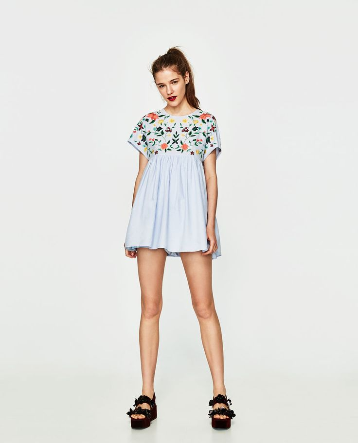 ZARA - WOMAN - EMBROIDERED JUMPSUIT DRESS