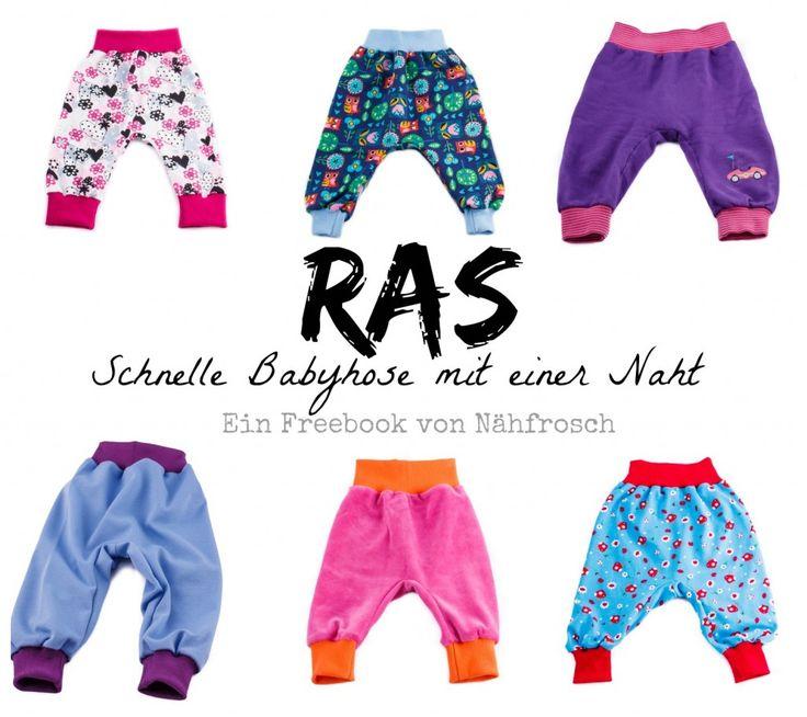 Freebook Schnittmuster Babyhose RAS von Nähfrosch