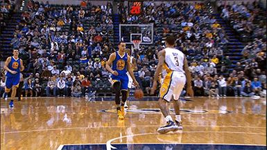 Stephen Curry with the ankle breaker.